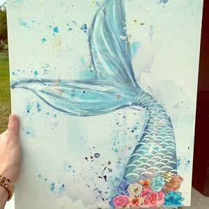 Beautiful mermaid 🧜♀️ wall decor